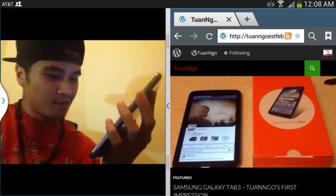 Screenshot with Samsung Galaxy Tab 3
